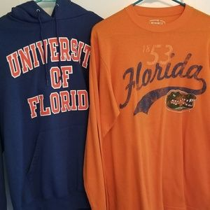 Florida Gator Hoodie and long sleeve Henley type